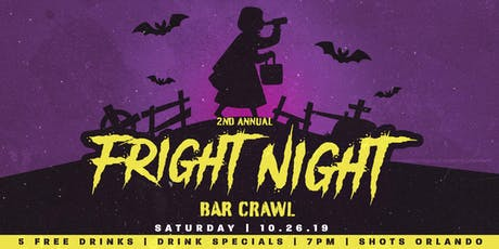 2nd Annual Fright Night Bar Crawl in Downtown Orlando tickets