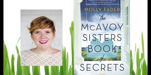 Champagne, cookies and books with award-winning author Molly Fader