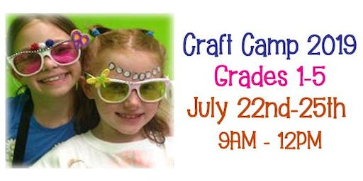 Cricket Studio Craft Camp grades 1-5