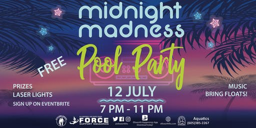 EAFB Midnight Madness Pool Party Summer