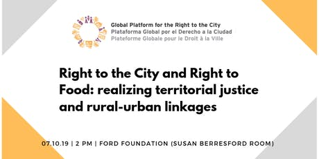 Realizing territorial justice and rural-urban linkages tickets