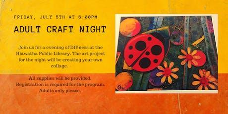 Adult Craft Night tickets
