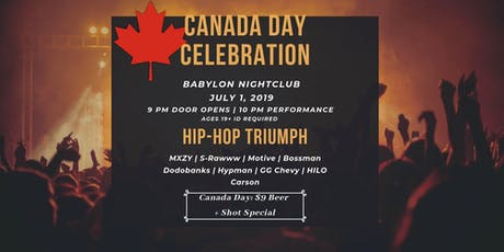 Canada Day Celebration: HipHop Triumph! tickets