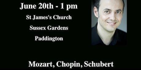 Mozart, Chopin, Schubert tickets