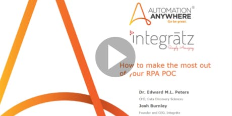 [Webinar] How To Make the Most Out Of Your RPA POC tickets
