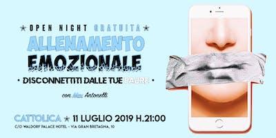"""Open Night GRATUITA ✭ """"ALLENAMENTO EMOZIONALE • Disconnettiti dalle tue paure"""" con Max Antonelli"""