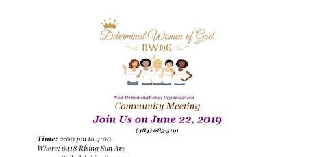 Determined Women of God Community Meeting tickets