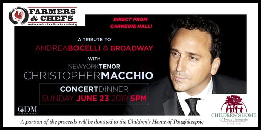 Tenor Christopher Macchio | A Tribute to Andrea Bocelli & Broadway | Farmers & Chefs