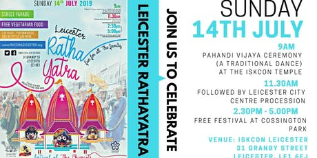 Leicester Rath Yatra 2019 tickets