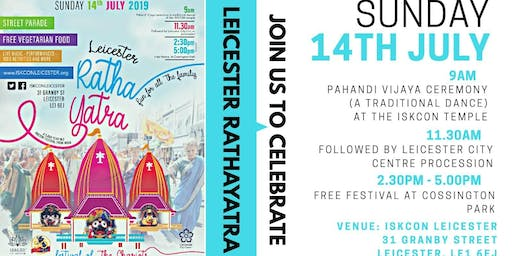Leicester Rath Yatra 2019