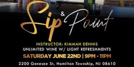 DJ Chidi Presents Sip And Paint tickets