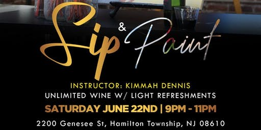 DJ Chidi Presents Sip And Paint