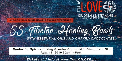 55 Tibetan Healing Bowls, Essential Oils & Chocolate Experience, Sound Healing, Cincinnati, OH