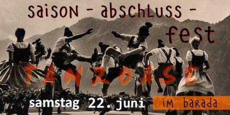 Saison Abschluss Fest - tanzoase special im BARADA - 22. Juni Tickets