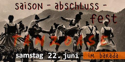 Saison Abschluss Fest - tanzoase special im BARADA - 22. Juni