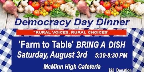 Democracy Day Dinner tickets