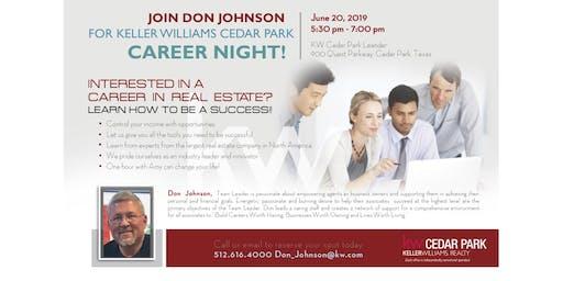 Keller Williams Cedar Park Realty Career Night
