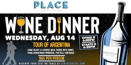 Wine Dinner - Tour of Argentina tickets