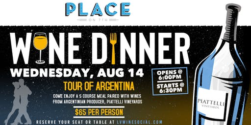 Wine Dinner - Tour of Argentina