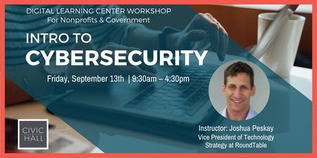 Understanding and Improving Cybersecurity (Nonprofits & Government) tickets