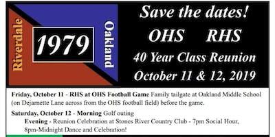 Riverdale/Oakland Class of 1979  -  40th Reunion