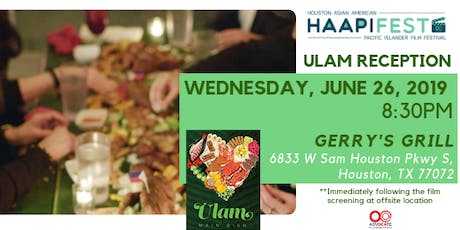 2019 HAAPIFEST: ULAM Reception Dinner tickets