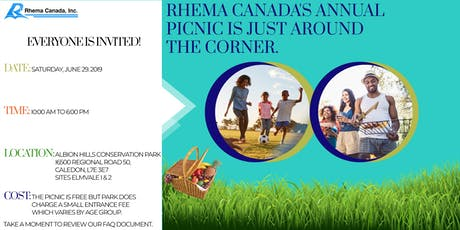 Rhema Canada's Annual Picnic  tickets