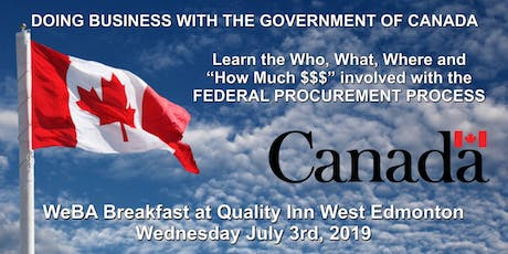 """WeBA Breakfast """"Are you doing business with the Government of Canada?"""" tickets"""