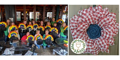 Summer Plaid Flower Wine & Wreaths at The Pub, Crestview Hills