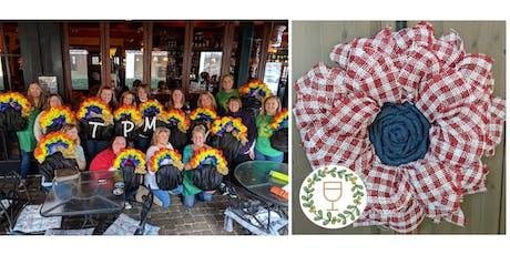 Summer Plaid Flower Wine & Wreaths at The Pub, Crestview Hills tickets