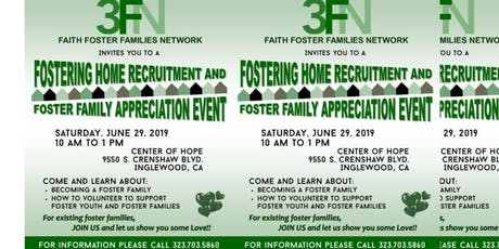 FOSTERING HOME RECRUITMENT AND FOSTER FAMILY APPRECIATION tickets