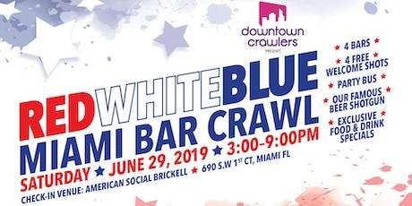 Red, White and Blue Miami Bar Crawl tickets