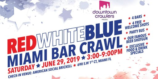 Red, White and Blue Miami Bar Crawl