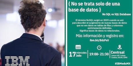 { No se trata solo de una base de datos}  D-Talk by IBM entradas