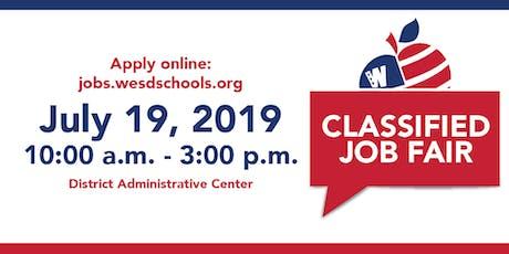 Washington Elementary School District Job Fair tickets