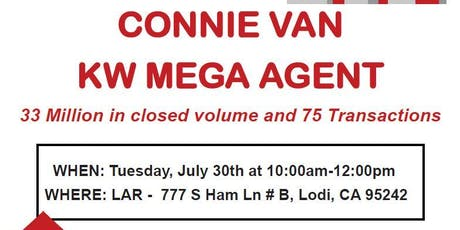 Connie Van KW Mega Agent tickets