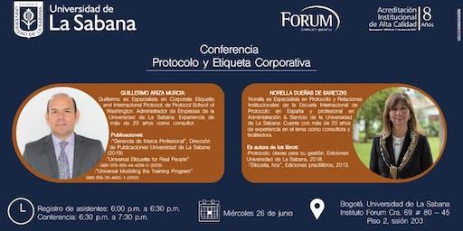 Conferencia Protocolo y Etiqueta Corporativa