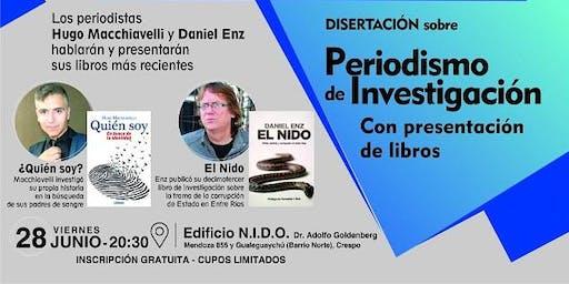 Disertación sobre Periodismo de Investigación con presentación de libros