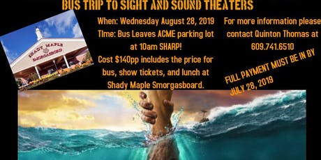 Bus Trip to Sight & Sound Theater tickets