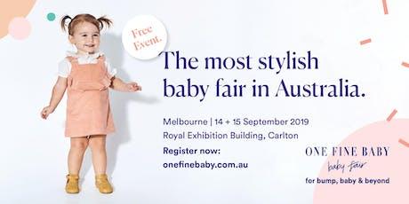 Australia's Most Stylish FREE Baby Fair MELBOURNE 2019 tickets