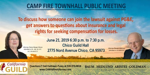 Chico Camp / Paradise California Wildfire Informational Meeting
