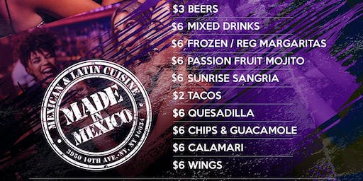 Ladies Night at Made In Mexico Uptown Nyc