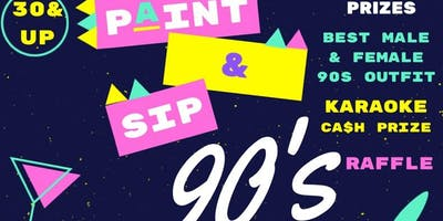 90s Theme Paint and Sip Party