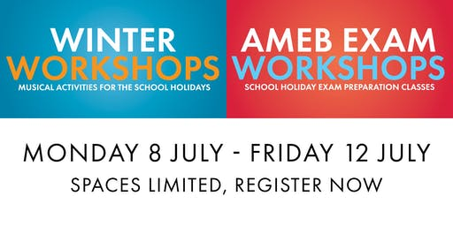 Winter Workshops and AMEB Classes