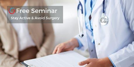 FREE Seminar: Avoid Surgery & Reduce Pain July 23 tickets