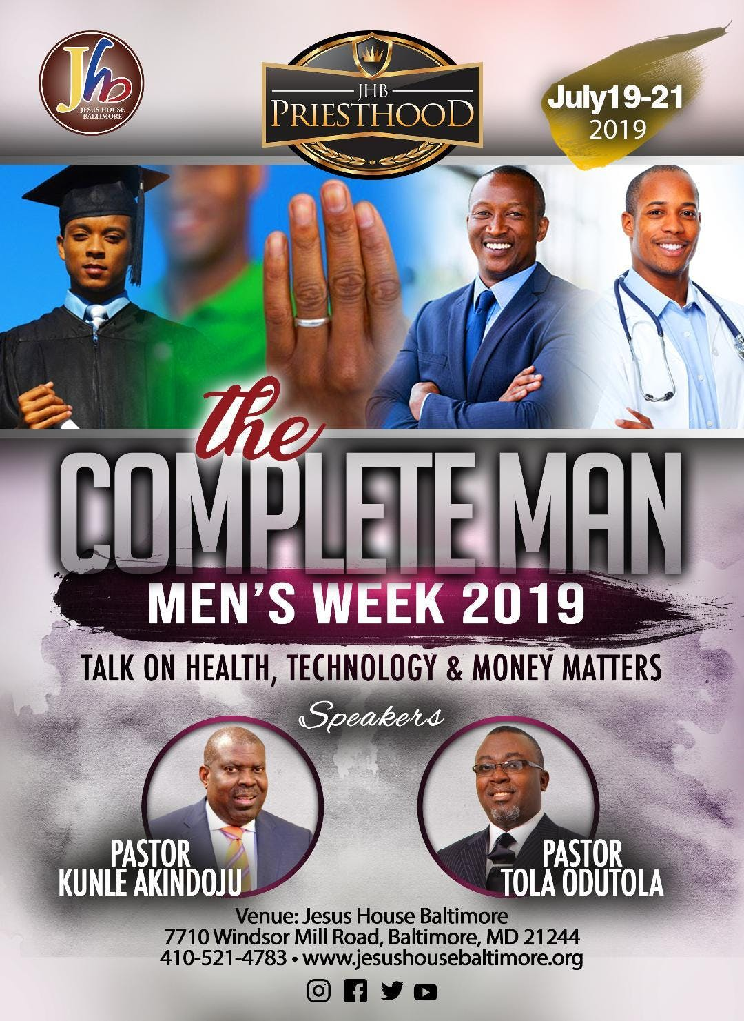 JHB Priesthood Presents: The Complete Man