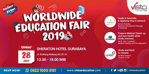 Worldwide Education Fair 2019 Surabaya - Sheraton Hotel