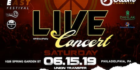 LIVE IN CONCERT @ Union Transfer  - Peace In The East (PIE) Festival tickets