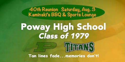 PHS CLASS OF '79 40TH REUNION-KAMINSKI'S SPORTS LOUNGE & BBQ ($40-$55/TIX)