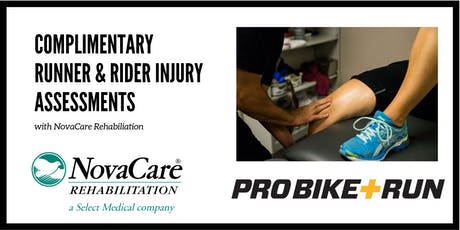 Runner & Rider Assessments with NovaCare Rehabilitation - North Park tickets